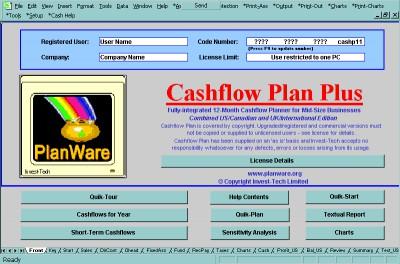 Cashflow Plan Plus 1.31 screenshot
