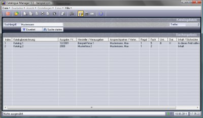 Catalogue Manager 3.1 screenshot