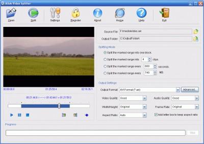 CC VIDEO SPLITTER 2.1.021991 screenshot