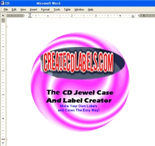 CD and DVD Jewel Case and Label Creator for Word 4.1 screenshot