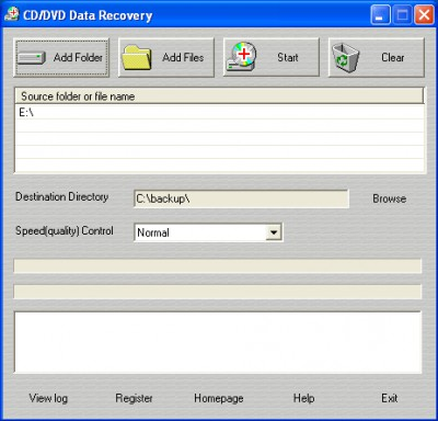 CD/DVD Data Recovery 1.1.0240 screenshot