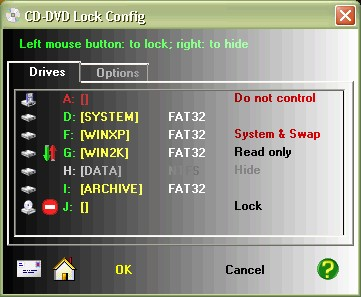 CD-DVD Lock 3.04 screenshot