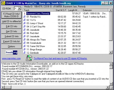 CDAID 3.20 screenshot