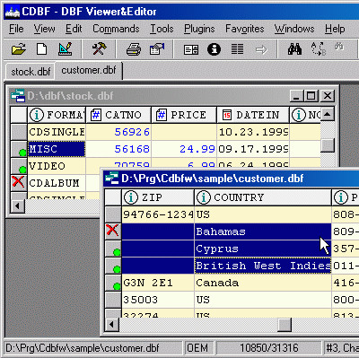 CDBF - DBF Viewer and Editor 2.45 screenshot