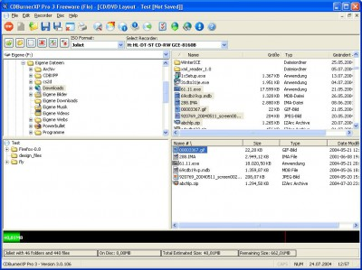 CDBurnerXP Pro 3.0.116 screenshot