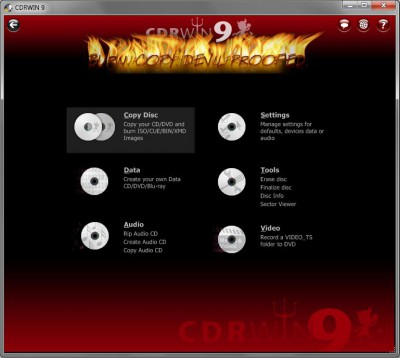CDRWIN 9.011.1109 screenshot
