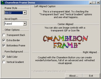 Chameleon Frame 1.0.1 screenshot