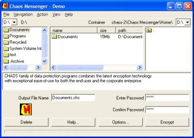 CHAOS Messenger 4.0 screenshot