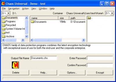 CHAOS Universal 6.2 screenshot