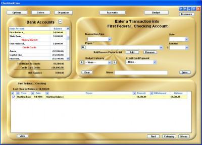 Checkbook Ease Freeware 2.1 screenshot