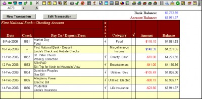 Checkbook for Excel 6.1f screenshot