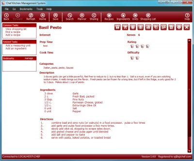 Chef 1.4.2 screenshot