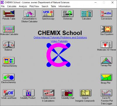 CHEMIX School 7.00 screenshot