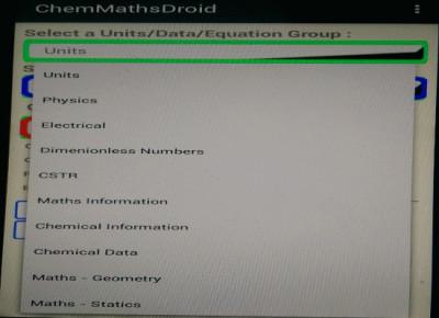 ChemMathsDroid 3.9 screenshot