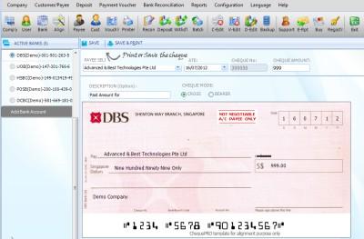 Cheque Printing Software ChequePRO 7.0.5 screenshot
