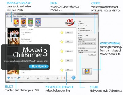 ChiliBurner 3.3 screenshot