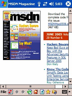 CHM eBook Reader for Pocket PC 2.5 screenshot
