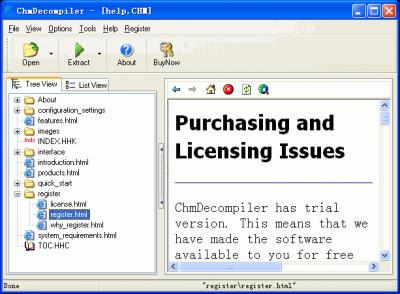 ChmDecompiler 3.60 screenshot