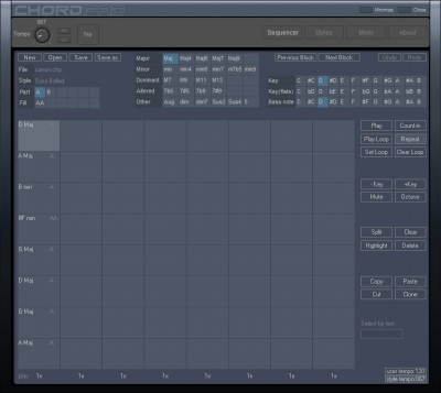 Chord sequencer 1.1 screenshot