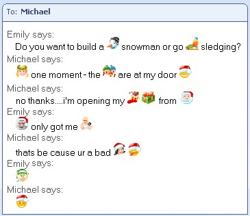Christmas Emoticons For MSN Messenger 1.3 screenshot