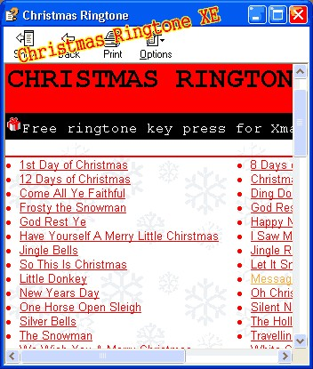 Christmas Ringtones XE 1.0 screenshot