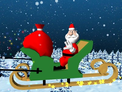 Christmas Santa Claus 3d screensaver 1.0 screenshot