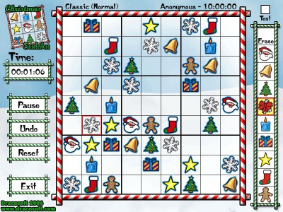 Christmas Sudoku 1.0 screenshot