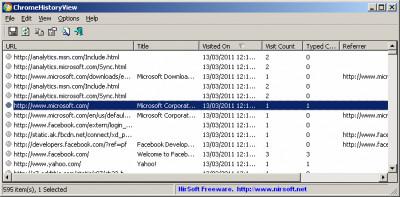 ChromeHistoryView 1.41 screenshot