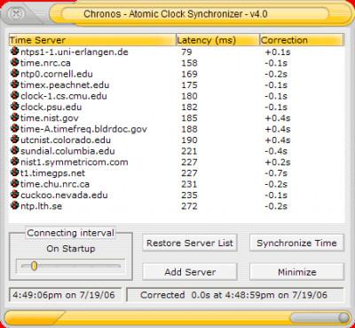 Chronos Atomic Clock Synchronizer 5.5.0 screenshot