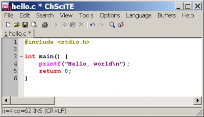 ChScite 1.55 screenshot