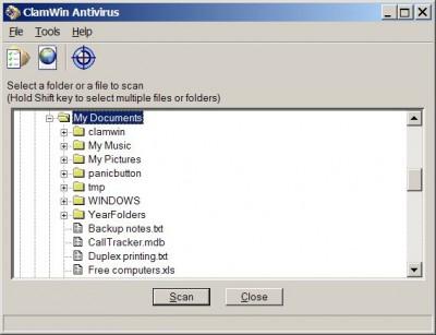 ClamWin 0.92 screenshot
