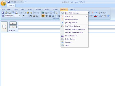 Classic Menu for Outlook 2007 7.00 screenshot