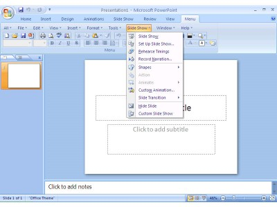 Classic Menu for PowerPoint 2007 7.00 screenshot