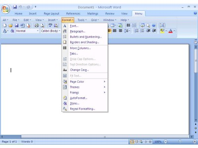 Classic Menu for Word 2007 7.00 screenshot