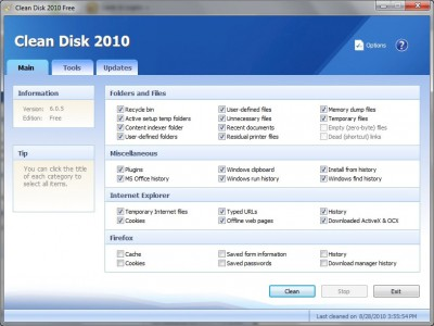 Clean Disk 2010 6.0.5 screenshot