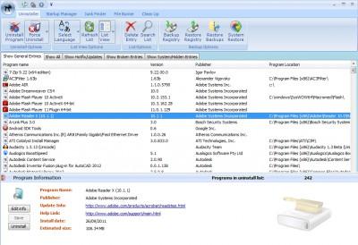 Cleanse Uninstaller Pro 8.0 screenshot