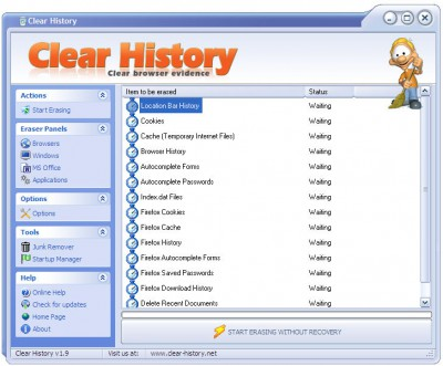 Clear History 1.9 screenshot