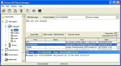 CleverCell Phone Manager 1.2 screenshot