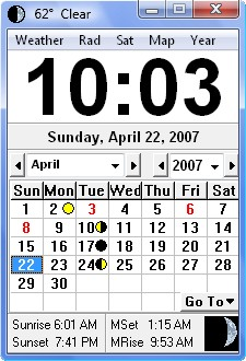 Click Clock 2.9.8 screenshot