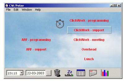 ClickWork 1.5 screenshot