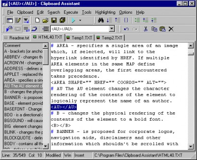 Clipboard Assistant 1.139 screenshot