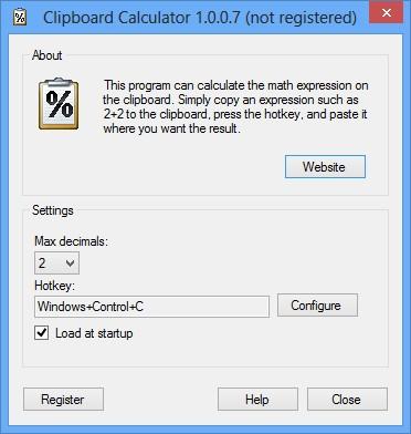 Clipboard Calculator 1.0.0.7 screenshot