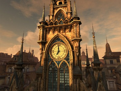 Clock Tower 3D Screensaver 1.2 screenshot