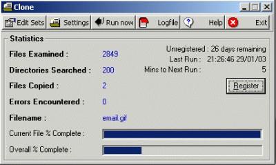 Clone 2.1.0 screenshot