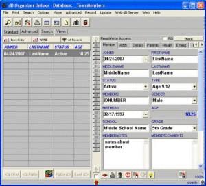 Coach Organizer Deluxe 4.12 screenshot