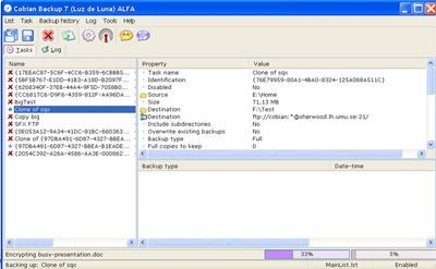 Cobian Backup v8.4.0.202 screenshot