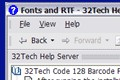 Code 128 Barcode Font Pack 1.0 screenshot