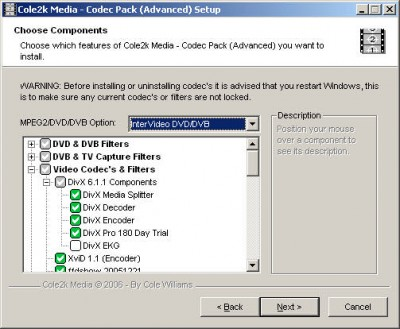 Codec Pack (Advanced) 6.0.1 screenshot