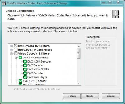 Codec Pack - Advanced 8.0.1 screenshot