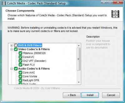 Codec Pack - Standard 8.0.1 screenshot